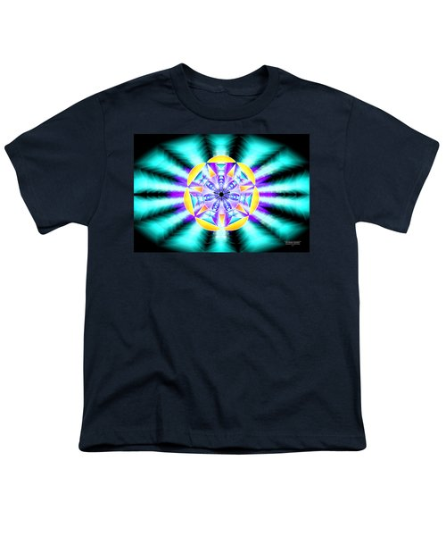Seventh Ray Of Consciousness Youth T-Shirt by Derek Gedney