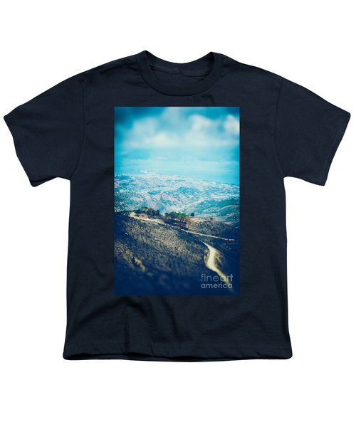 Youth T-Shirt featuring the photograph Sicilian Land After Fire by Silvia Ganora