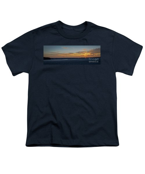 Youth T-Shirt featuring the photograph Sunset At Pocono Airport by Gary Keesler