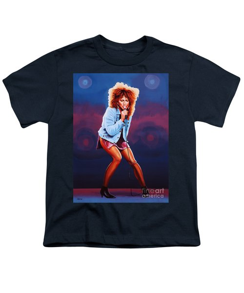 Tina Turner Youth T-Shirt by Paul Meijering