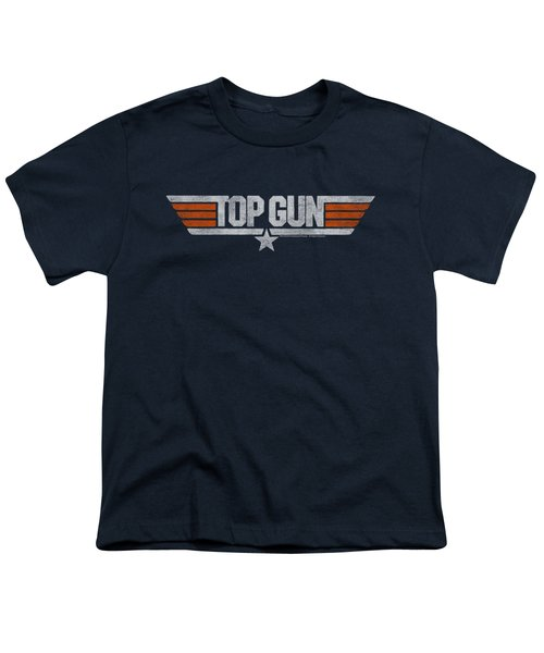 Top Gun - Distressed Logo Youth T-Shirt by Brand A
