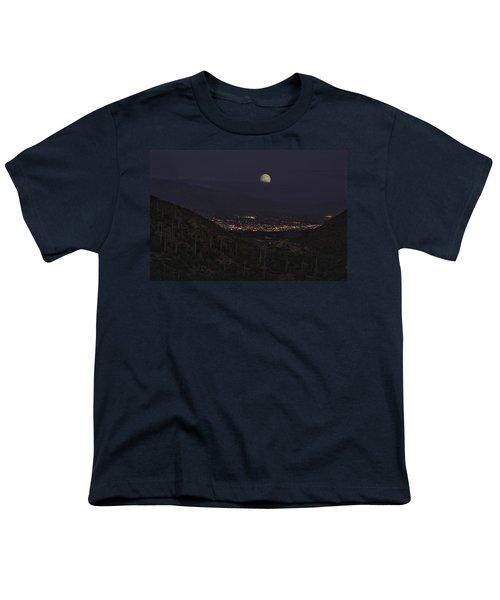 Tucson At Dusk Youth T-Shirt by Lynn Geoffroy