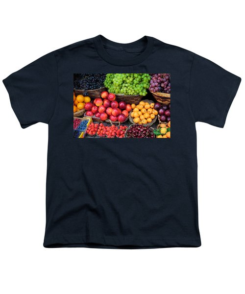 Tuscan Fruit Youth T-Shirt by Inge Johnsson