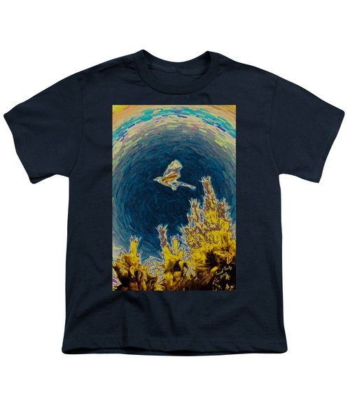 Bluejay Gone Wild Youth T-Shirt by Trish Tritz