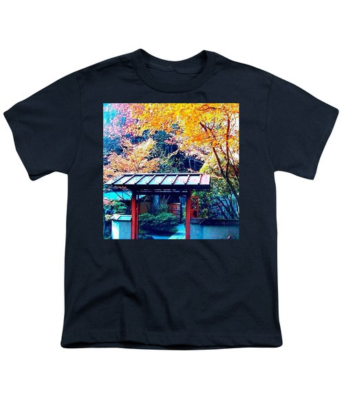 Tea House Gate In The Fall Youth T-Shirt