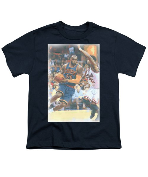 Cleveland Cavaliers Lebron James 2 Youth T-Shirt by Joe Hamilton