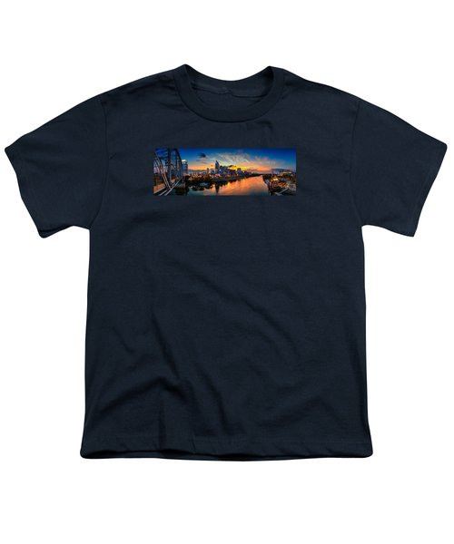 Nashville Skyline Panorama Youth T-Shirt