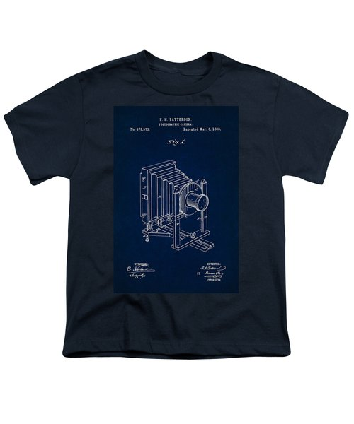 1888 Camera Us Patent Invention Drawing - Dark Blue Youth T-Shirt