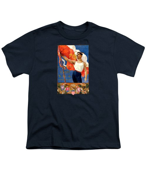 1921 Czech Sokol Of Chicago  Youth T-Shirt by Historic Image