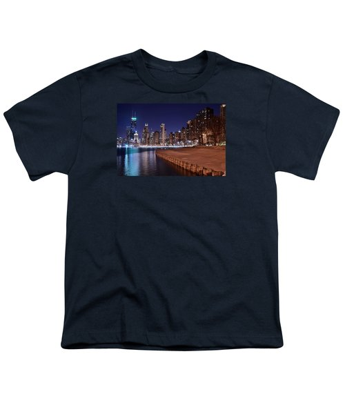 Chicago From The North Youth T-Shirt by Frozen in Time Fine Art Photography