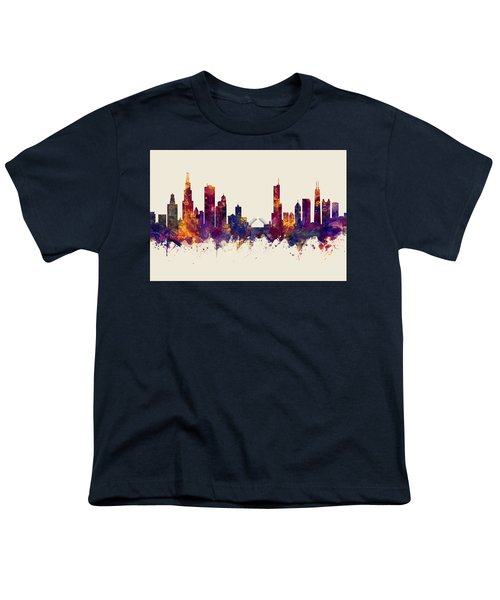 Chicago Illinois Skyline Youth T-Shirt
