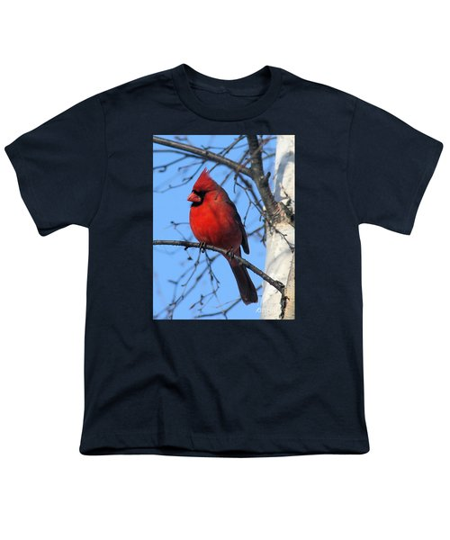 Youth T-Shirt featuring the photograph Northern Cardinal by Ricky L Jones