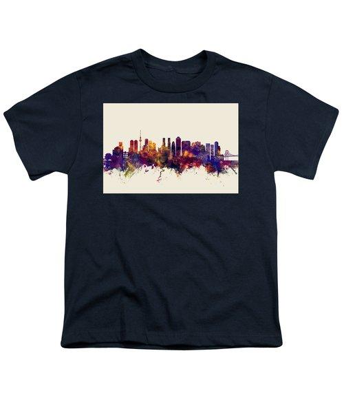 Tokyo Japan Skyline Youth T-Shirt by Michael Tompsett