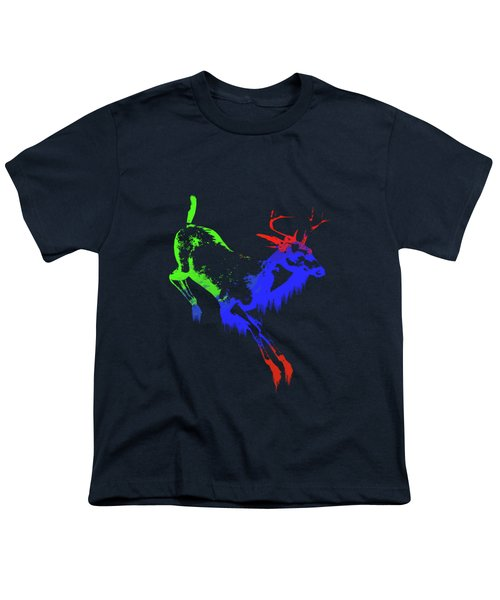 Paint Drips Youth T-Shirt by Solomon Barroa