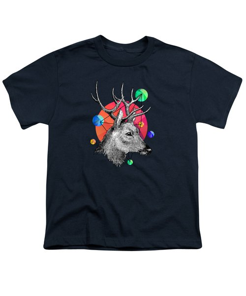 Deer Youth T-Shirt by Mark Ashkenazi