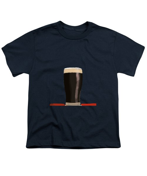 A Glass Of Stout Youth T-Shirt by Keshava Shukla