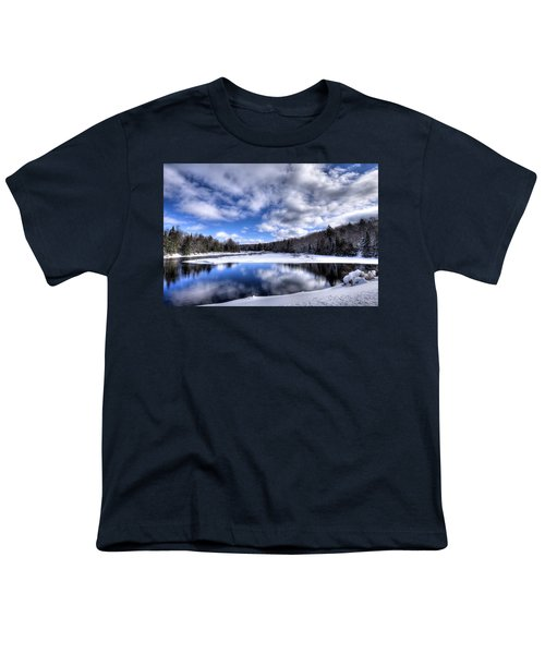 Youth T-Shirt featuring the photograph A Moose River Snowscape by David Patterson