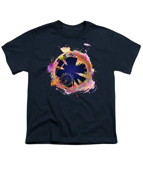 Abstract London Skyline At Night Youth T-Shirt