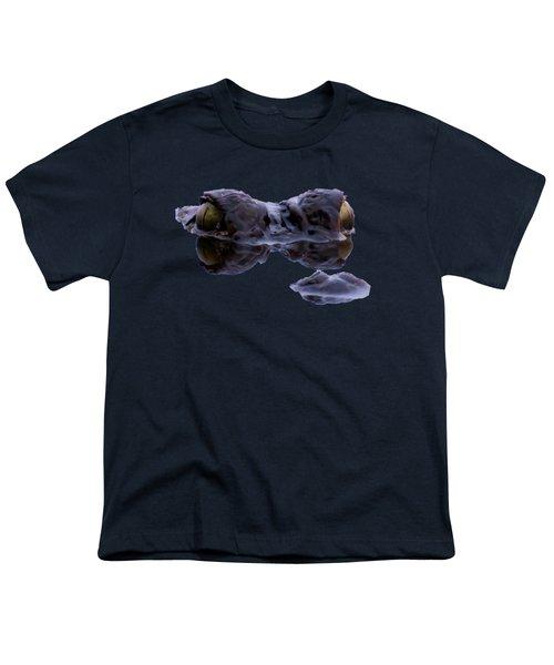 Alligator Eyes On The Foggy Lake Youth T-Shirt