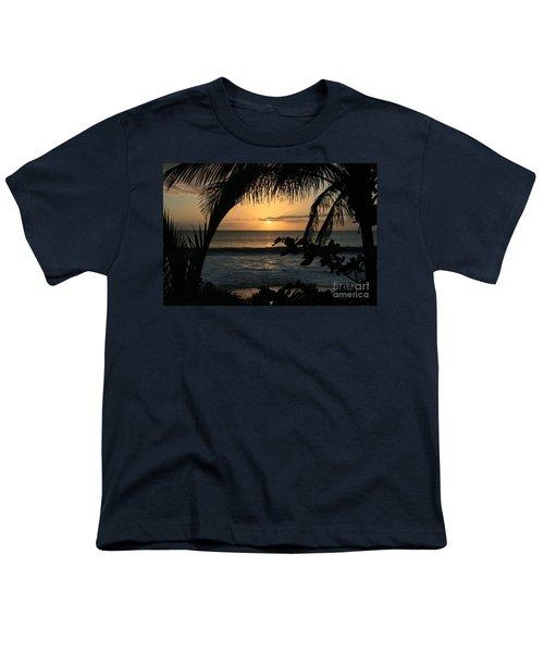 Aloha Aina The Beloved Land - Sunset Kamaole Beach Kihei Maui Hawaii Youth T-Shirt by Sharon Mau