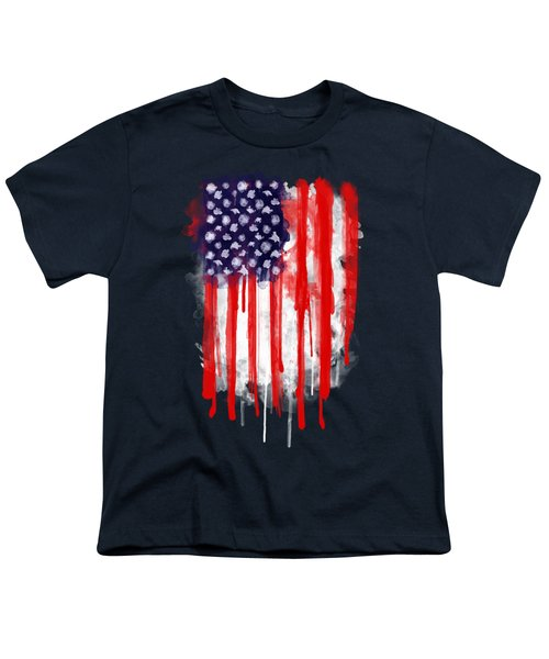 American Spatter Flag Youth T-Shirt by Nicklas Gustafsson