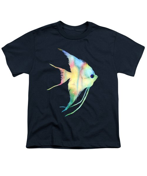 Angelfish I - Solid Background Youth T-Shirt by Hailey E Herrera