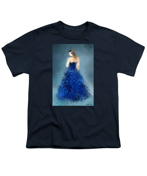 Youth T-Shirt featuring the digital art Angelica by Nancy Levan