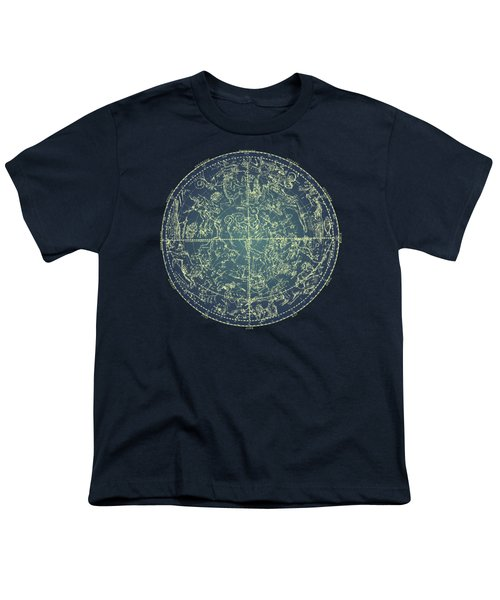 Antique Constellation Of Northern Stars 19th Century Astronomy Youth T-Shirt