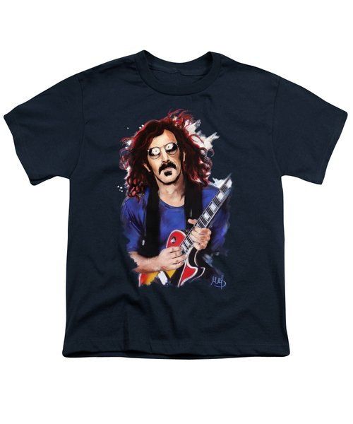 Frank Zappa Youth T-Shirt by Melanie D