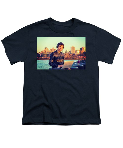 Asian American College Student Traveling, Studying In New York Youth T-Shirt