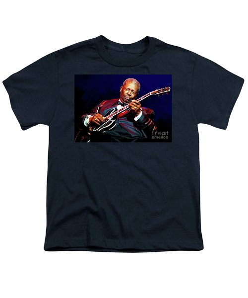 Bb King Youth T-Shirt by Paul Tagliamonte