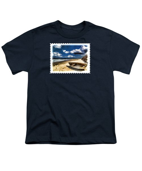 Beached Boat Before The Storm Youth T-Shirt