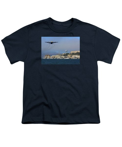 Blue Angels C130 Fat Albert Passes Alcatraz Youth T-Shirt