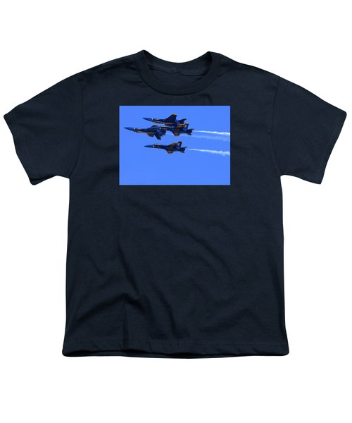 Blue Angels Perform Over San Francisco Bay Youth T-Shirt