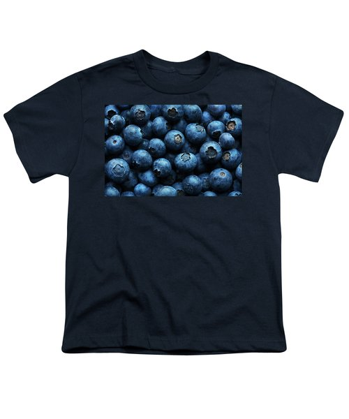 Blueberries Background Close-up Youth T-Shirt