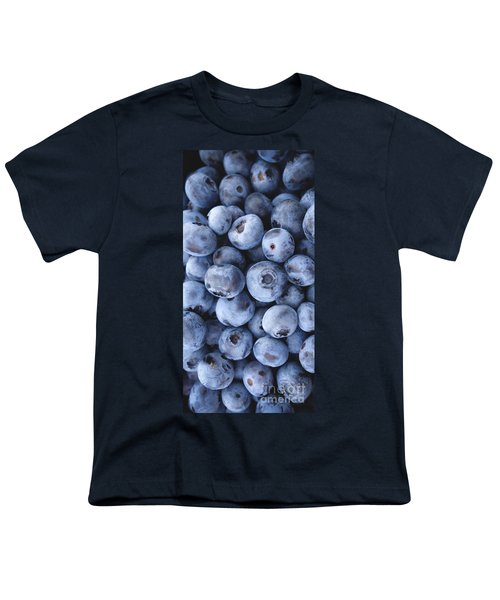 Blueberries Foodie Phone Case Youth T-Shirt by Edward Fielding