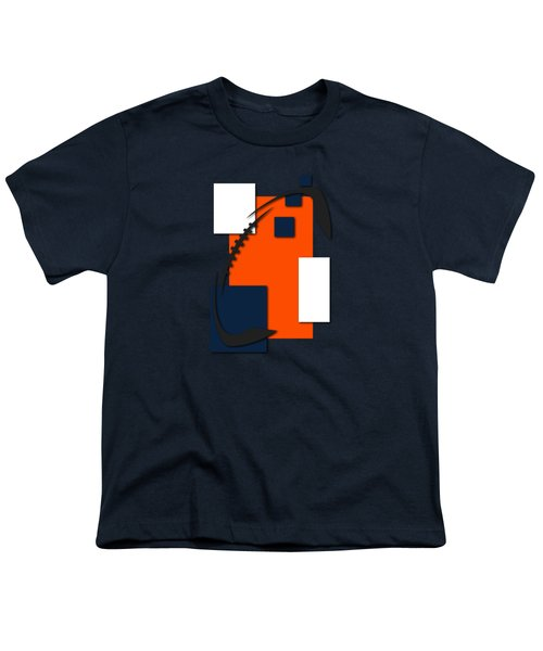 Broncos Abstract Shirt Youth T-Shirt by Joe Hamilton