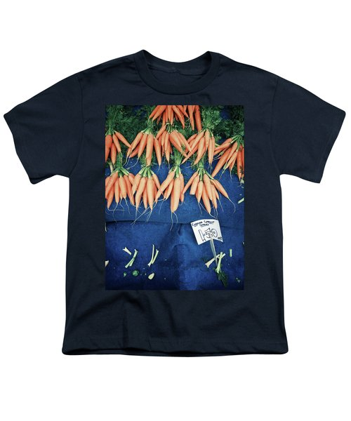 Carrots At The Market Youth T-Shirt by Tom Gowanlock