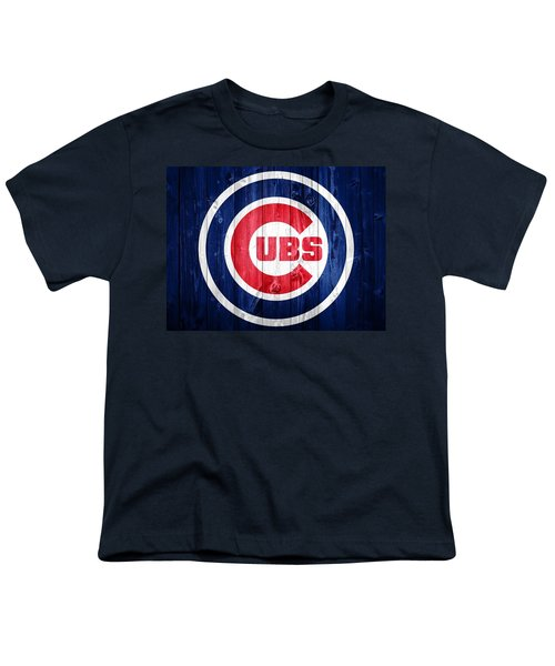Chicago Cubs Barn Door Youth T-Shirt by Dan Sproul