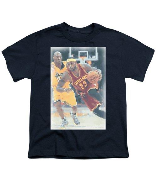 Cleveland Cavaliers Lebron James 3 Youth T-Shirt by Joe Hamilton