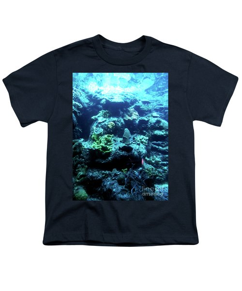Youth T-Shirt featuring the photograph Coral Art 4 by Francesca Mackenney