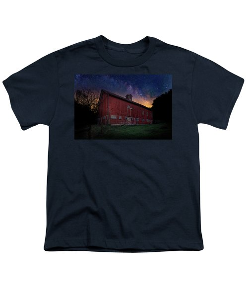 Youth T-Shirt featuring the photograph Cosmic Barn by Bill Wakeley