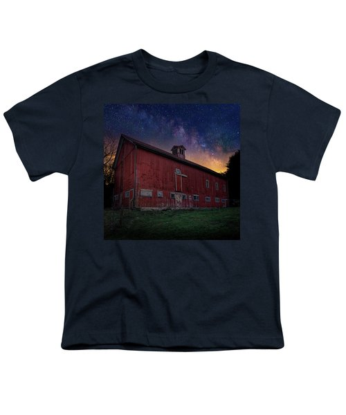 Youth T-Shirt featuring the photograph Cosmic Barn Square by Bill Wakeley