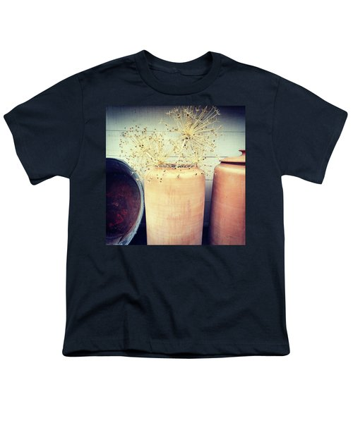 Decorative Allium Plants In Clay Vase Youth T-Shirt