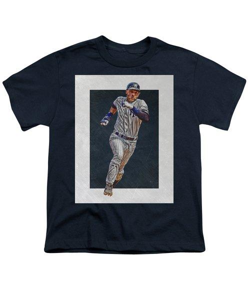 Derek Jeter New York Yankees Art 3 Youth T-Shirt