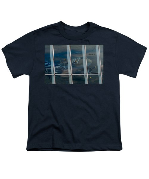 Youth T-Shirt featuring the photograph Duxford Dakota Daydream by Gary Eason