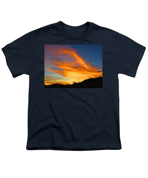 Flaming Hand Sunset Youth T-Shirt