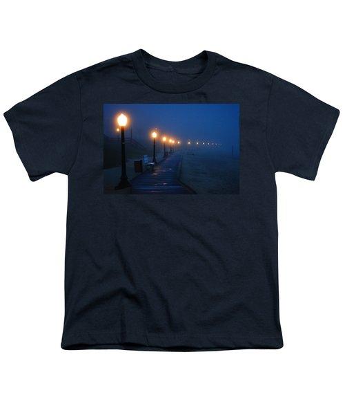 Foggy Boardwalk Blues Youth T-Shirt by Bill Pevlor