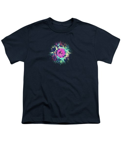 Fruity Rose   Fancy Colorful Abstraction Pattern Design  Green Pink Blue  Youth T-Shirt