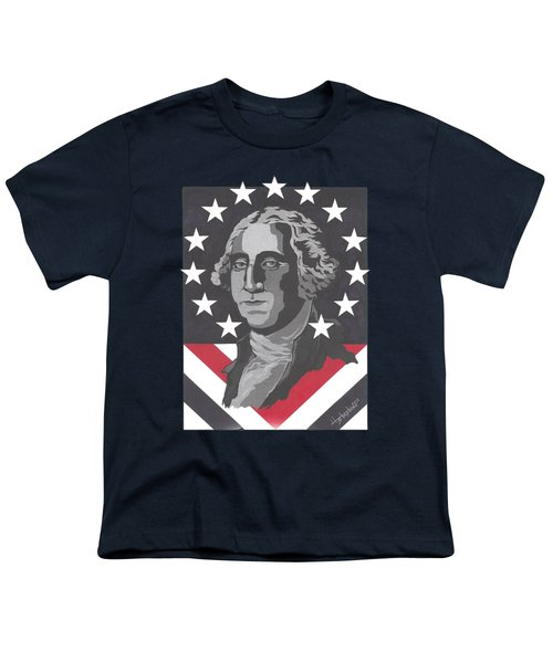 George Washington T-shirt Youth T-Shirt by Herb Strobino